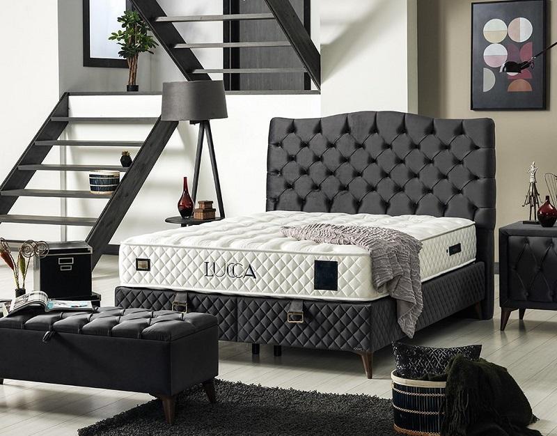 Tapacirano uzglavlje bračni krevet sa mehanizmom PRADO Linea Milanovic