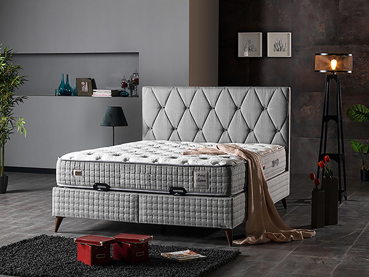 tapacirani bracni krevet sa podiznim mehanizmom